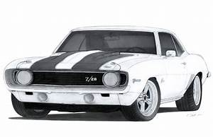 1969 Chevrolet Camaro Z/28 Drawing by Vertualissimo on ...
