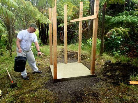 Building An Outdoor Bathroom Diy Outdoor Shower