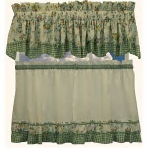 Amazon Kitchen Window Curtains by Amazon Com Dreams Green Floral With Gingham Check