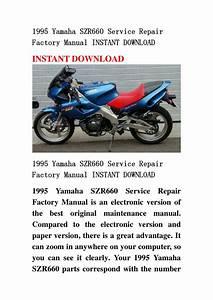 1995 Yamaha Szr660 Service Repair Factory Manual Instant Download