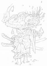 Drawings Drawing Samurai Simple Sketch Line Edouard Cadwallon Guiton Sketches Wings Edouardguiton Visit Character Coloring Rackham Sq sketch template