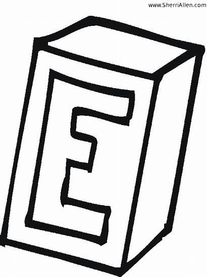 Coloring Alphabet Pages Box Block Printable Phonics