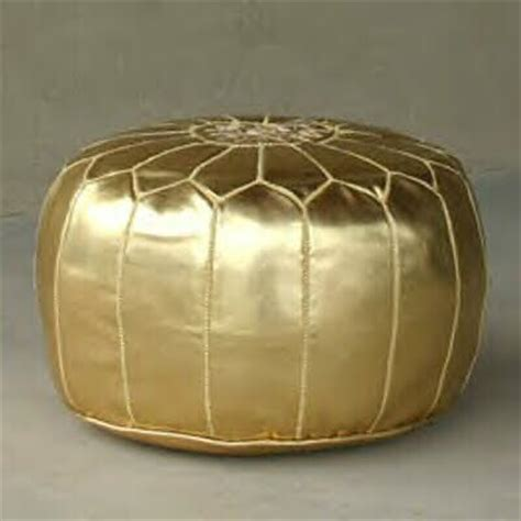 Gold Ottoman Pouf by Dose Of Design It Gold Pouf