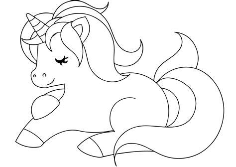 gambar unicorn tanpa warna