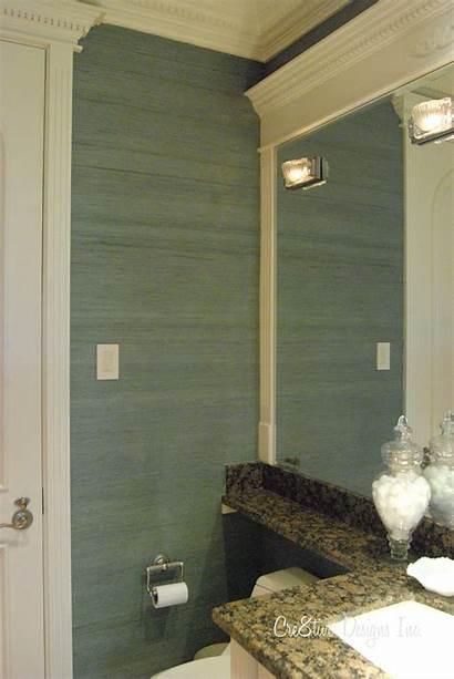 Grasscloth Bathroom Wall Metallic Seagrass Paper Mirror