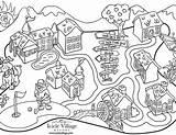 Town Coloring Western Arcade Map Getdrawings Printable Cowboy Getcolorings sketch template
