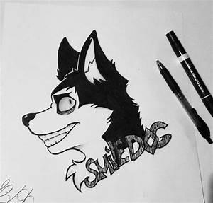 Smile dog // creepypasta// ink doodle // dog drawing ...