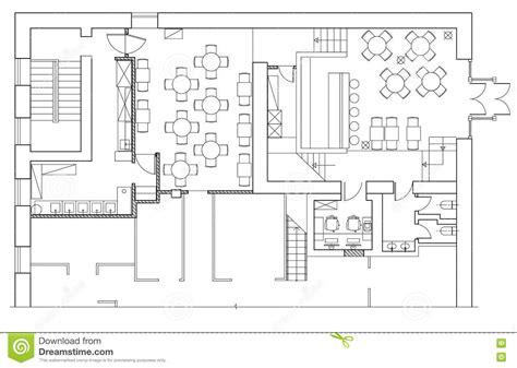 plan de bureau symboles standard de meubles de bureau sur des plans d
