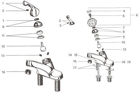 Delta Bathroom Sink Faucet Parts by Delta Lavatory Faucet Parts