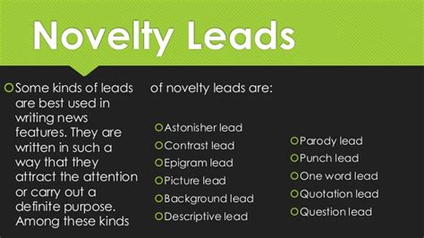 Types Of News Lead
