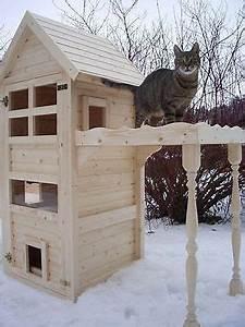 Katzenhaus Selber Bauen : cat house cat tower cat cave scratching tree solid natural ~ A.2002-acura-tl-radio.info Haus und Dekorationen