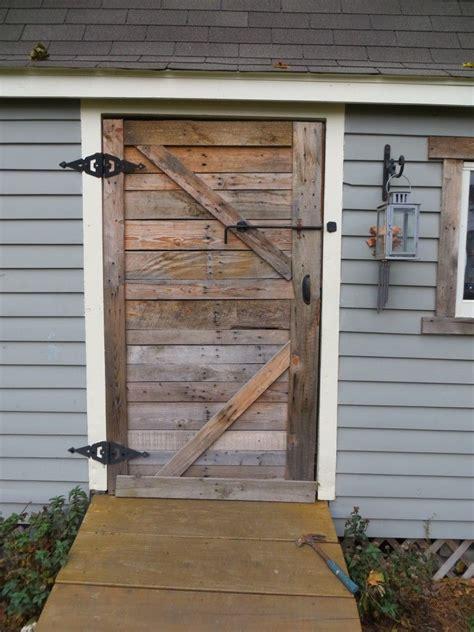 pallet door pallet shed shed doors barn door garage