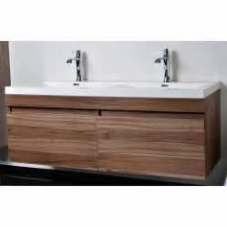 designer bathroom vanity modern bathroom vanity set with wavy sinks in walnut tn a1440 wn conceptbaths