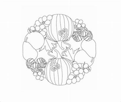 Coloring Fall Template Templates Pages Colouring Pdf