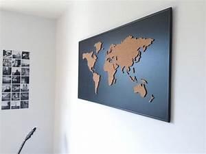 Mappemonde En Liege : carte du monde planche de li ge noir par onefancychimney sur etsy deco pinterest carte du ~ Teatrodelosmanantiales.com Idées de Décoration