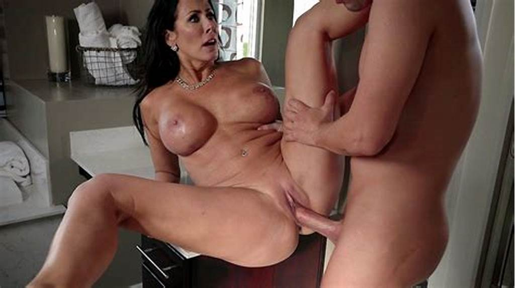 #Horny #Milf #Stepmom #Reagan #Foxx #Spreads #Her #Legs #Wide #For #Hard #Young #Cock