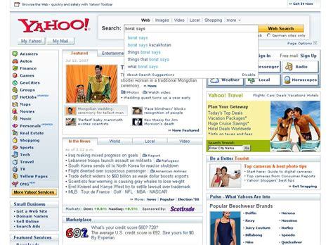 A Sneak Peek At The New Yahoo Home Page Redesign?