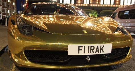 golden ferrari lights  london  mega rich playboys show
