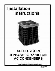 Icp Cac236aka1 User Manual Condensing Unit Manuals And