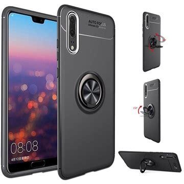 Huawei P20 Pro Magnet Ring Grip / Kickstand Case - Black