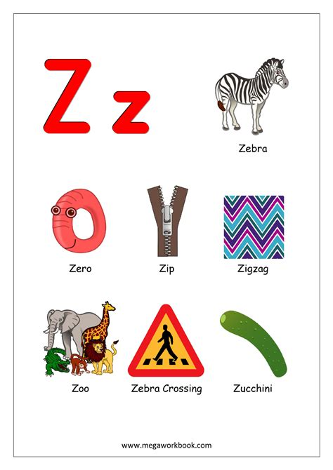 letters that start with z free printable worksheets alphabet reading 23394