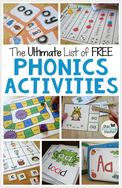 the ultimate list of free phonics activities best of 654 | 8983dcfd3e2b38dcbb39c69aed00afe6