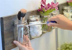 Pot A Accrocher : rangement diy salle de bain avec pots mason bnbstaging le blog ~ Teatrodelosmanantiales.com Idées de Décoration