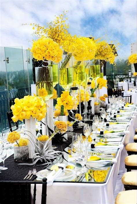 wedding themes black yellow wedding colors  themes