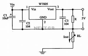 application of the constant current source circuit by the With current source circuit with cw117 basiccircuit circuit diagram