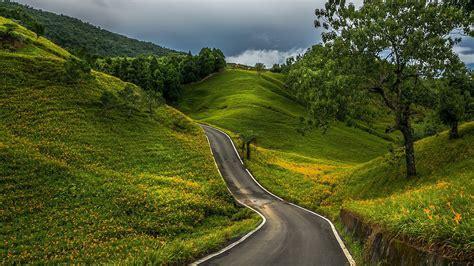 country road fond decran hd arriere plan