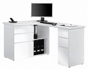Bureau Blanc Simple : bureau d angle petit bureau d angle modulable lepolyglotte ~ Teatrodelosmanantiales.com Idées de Décoration