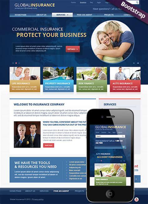 travel insurance website template insurance html template