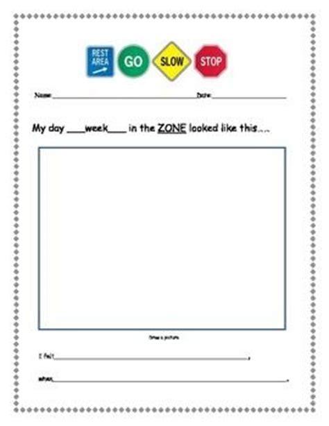 zones  regulation weekly worksheet zones  regulation