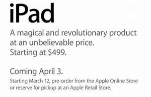Finally Official: iPad Available April 3rd, Pre-orders ...