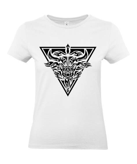 shirt femme tattoo tribal taureau tatouage animaux