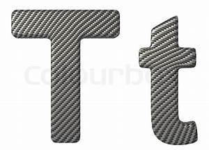 carbon fiber font t lowercase and capital letters stock With carbon fiber letters
