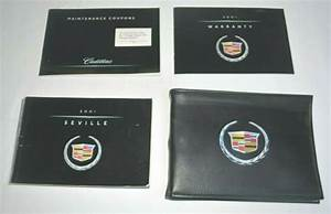 2001 Cadillac Seville Owners Manual Guide Book Set With
