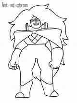 Steven Universe Coloring Pages Quartz Jasper Printable 1200px Might Getdrawings 47kb sketch template