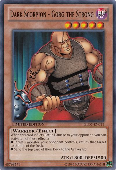 dark scorpion gorg the strong yu gi oh it s time to