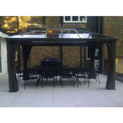 kensington 3x3 65m gazebo with polycarbonate roof garden gazebos norwich cing