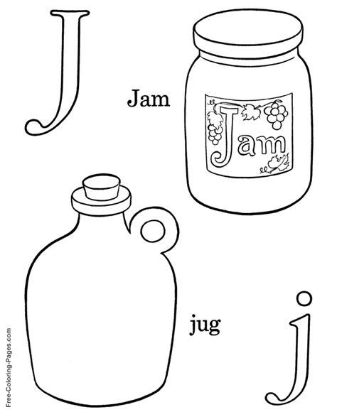 alphabet coloring sheets    jam