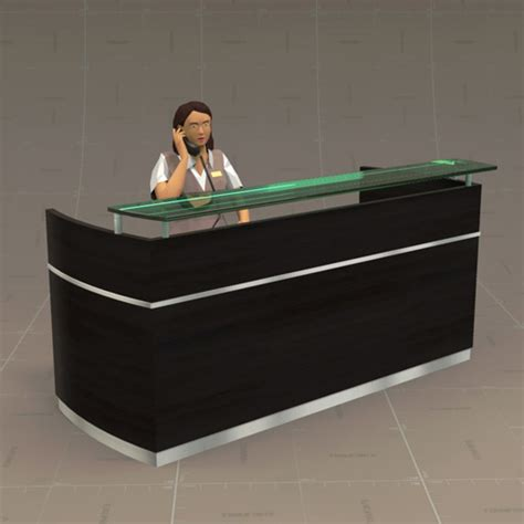 reception desk  model formfonts  models textures