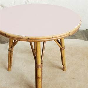 Table Basse Rotin : table basse rotin vintage rose atelier du petit parc ~ Teatrodelosmanantiales.com Idées de Décoration