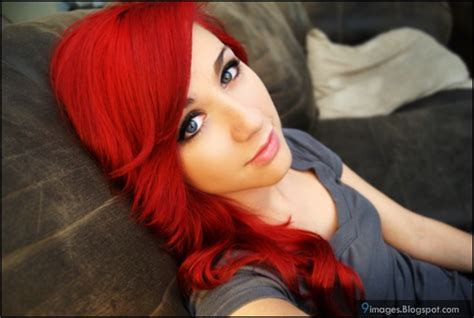 Emo Girl Cute Red Hair Blonde Beautiful 9images By