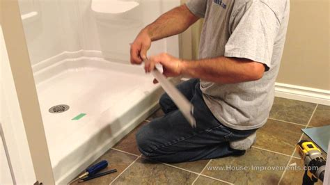 how to install a shower door how to install glass sliding shower doors