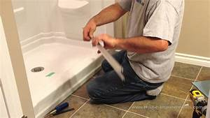 How to install glass sliding shower doors youtube for How to replace a bathroom window