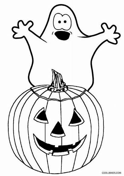 Ghost Coloring Halloween Pages Printable Drawing Face