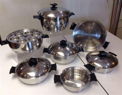 cookware ware rena usa stainless steel kitchen waterless pots sets piece ply pan bakeware lid items qt sauce da