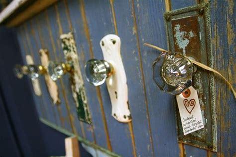 Coat Rack Made From Vintage Glass Door Knobs. Love How