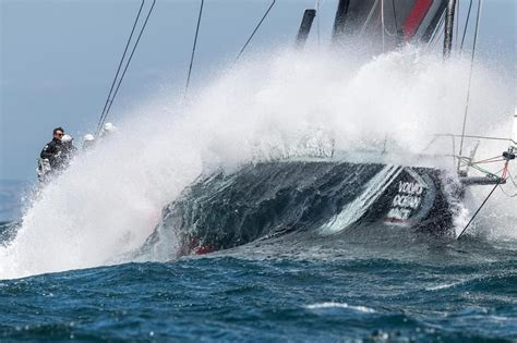 volvo ocean race shk scallywag dips  waves  menorca